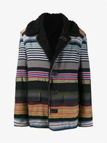 James Long Striped Shearling Coat