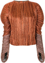 Haider Ackermann lurex pleated blouse - women - Silk/Polyester/Spandex/Elastane - 36