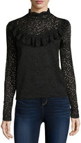 Arizona Long Sleeve Lace Top- Juniors