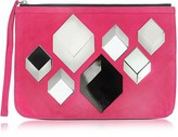 Pierre Hardy Cube Pink Suede Pouch