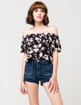 Almost Famous PREMIUM Contrasting Pocket Womens Denim Shorts