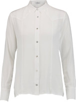 7 For All Mankind Western silk crepe de chine shirt