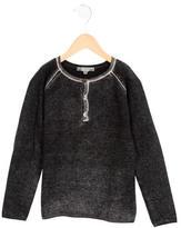 Bonpoint Boys' Distressed Crew Neck Sweater