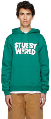 Stussy Green World Hoodie