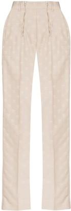 GmbH Straight-Leg Jacquard Trousers