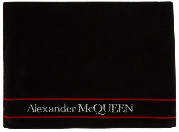 Alexander McQueen Black and White Selvedge Towel