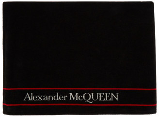 Alexander McQueen Black and White Selvedge Towel
