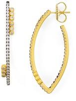 Freida Rothman Oval Hoop Earrings