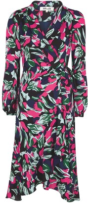 Diane von Furstenberg Carla printed wrap dress