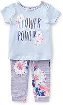 Joules Baby Girls Newborn-12 Months Flower Power Top & Printed Pants Set