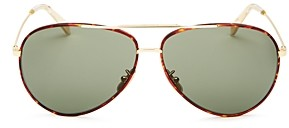 Celine Unisex Brow Bar Aviator Sunglasses, 62mm