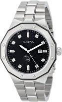 Bulova Men's Marine Star Diamond Accented Stainless Steel Bracelet Watch 98D103