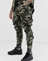 Liquor N Poker utility cargo trousers in camo