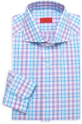 Isaia Plaid Sport Shirt