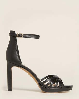 Vince Camuto Black Beresta Ankle Strap Leather Sandals