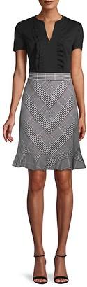 Karl Lagerfeld Paris Ruffle-Trimmed Mini Dress