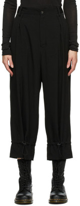Regulation Yohji Yamamoto Black Hem Tighten Trousers