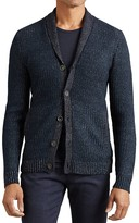 John Varvatos Two Tone Shawl Collar Cardigan Sweater