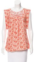 Loeffler Randall Silk Printed Top