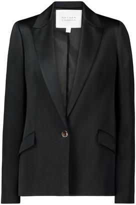Galvan Satin crepe blazer