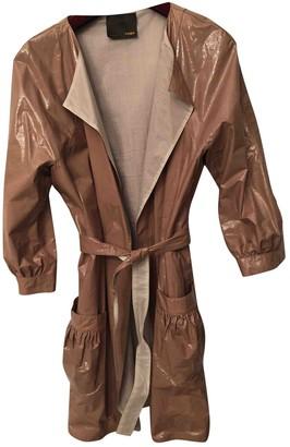 Fendi Beige Leather Coat for Women