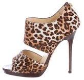 Jimmy Choo Leopard-Printed Ponyhair Sandals