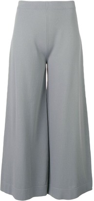 D-Exterior Cropped Wide Leg Trousers