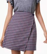 LOFT Petite Geo Jacquard Wrap Skirt