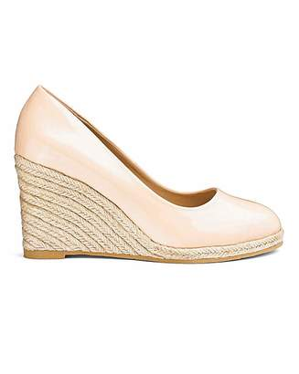 Simply Be Iris Espadrille Wedge Court Ex Wide Fit