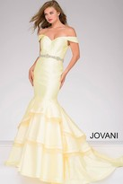 Jovani Off the Shoulder Mermaid Prom Dress 48609