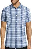 Jf J.Ferrar JF Short-Sleeve Indigo Woven Shirt