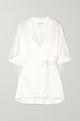 Vanessa Cocchiaro - The Gloria Satin Blouse - Ivory