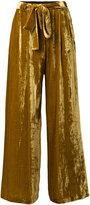 Roberto Collina tie detail velvet trousers