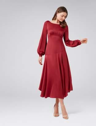 Ever New Melody Satin Split Front Dress