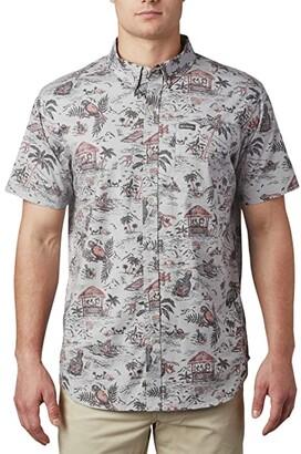 Columbia Rapid Riverstm Printed Short Sleeve Shirt Grey Lost In Paradise Print) Men's Clothing