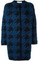 Gianluca Capannolo houndstooth pattern cardi-coat