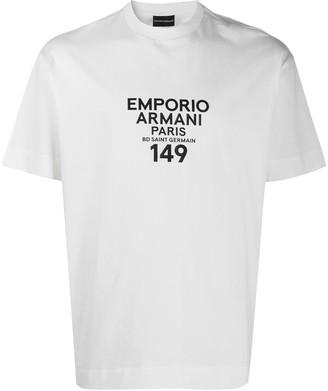 Emporio Armani address logo cotton T-shirt