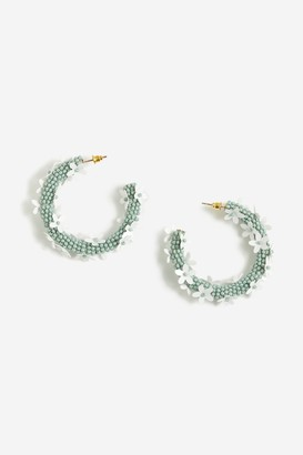 Topshop Beaded Daisy Hoop Earrings