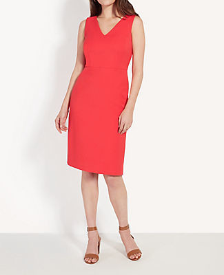 Ann Taylor Ruffle Back Sheath Dress