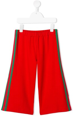 Gucci Kids Contrast Stripe Trousers