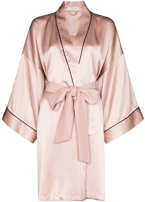 Olivia von Halle Mimi silk robe