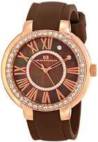 Oceanaut Women's OC6414 Allure Analog Display Quartz Brown Watch