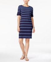 Karen Scott Striped T-Shirt Dress, Only at Macy's