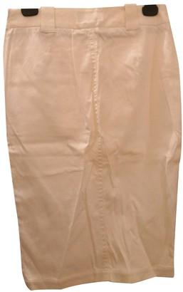 Emporio Armani White Cotton - elasthane Skirt for Women