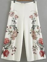 Shein Floral Palazzo Leg Pants