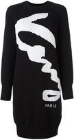 Kenzo Signature sweater dress - women - Cotton/Polyamide - S