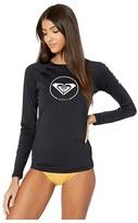 Roxy Beach Classics Long Sleeve Rashguard (Anthracite) Women's Swimwear