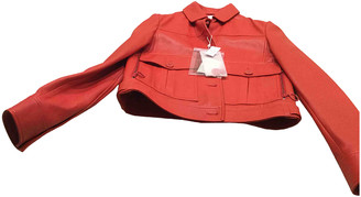 Max & Co. Red Leather Jackets