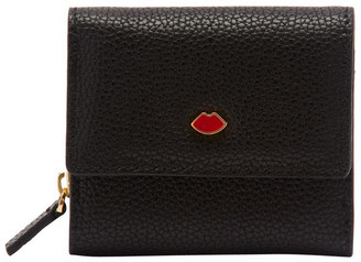 Lulu Guinness Black Pop Out Lip Jodie Wallet