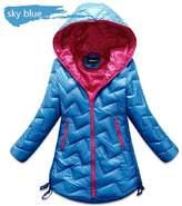 herina store Girls Winter Coats Duck Down Outerwear for 6-12years, Children&Teenage Winter Jackets